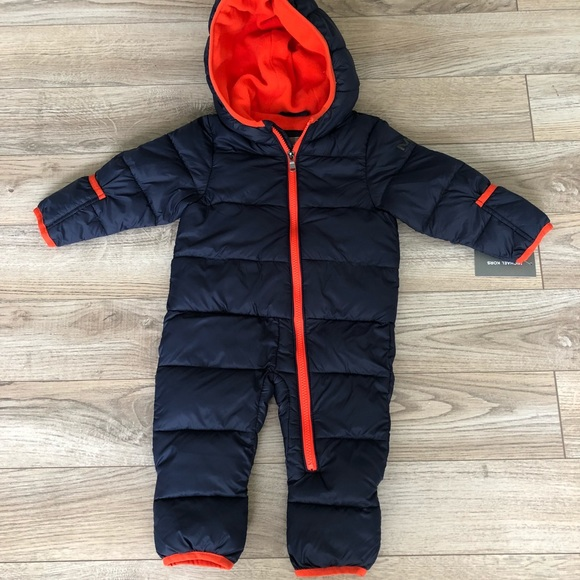 c5cebbe3d Michael Kors Jackets & Coats | Navy And Orange Baby Snowsuit | Poshmark